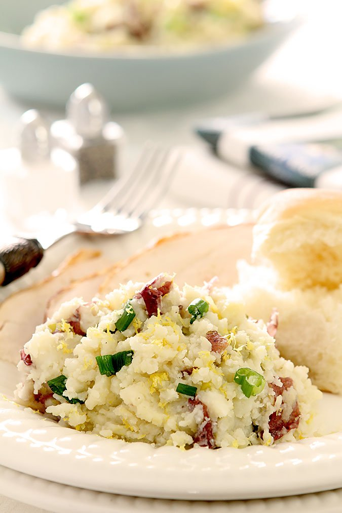 Lemon, Garlic and Scallion Mashed Potatoes
