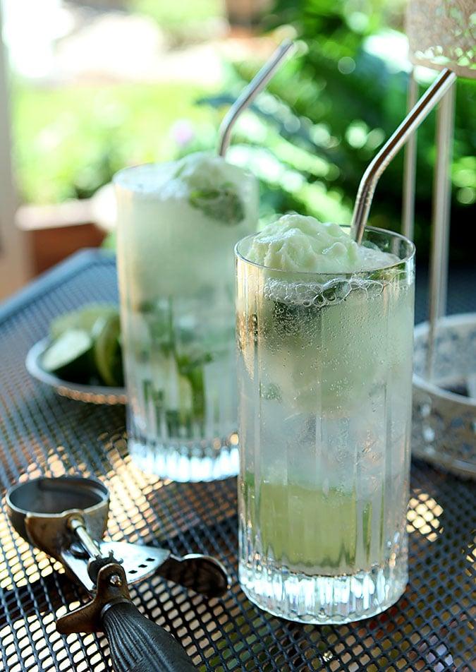 Lime Sherbet Mojito Float