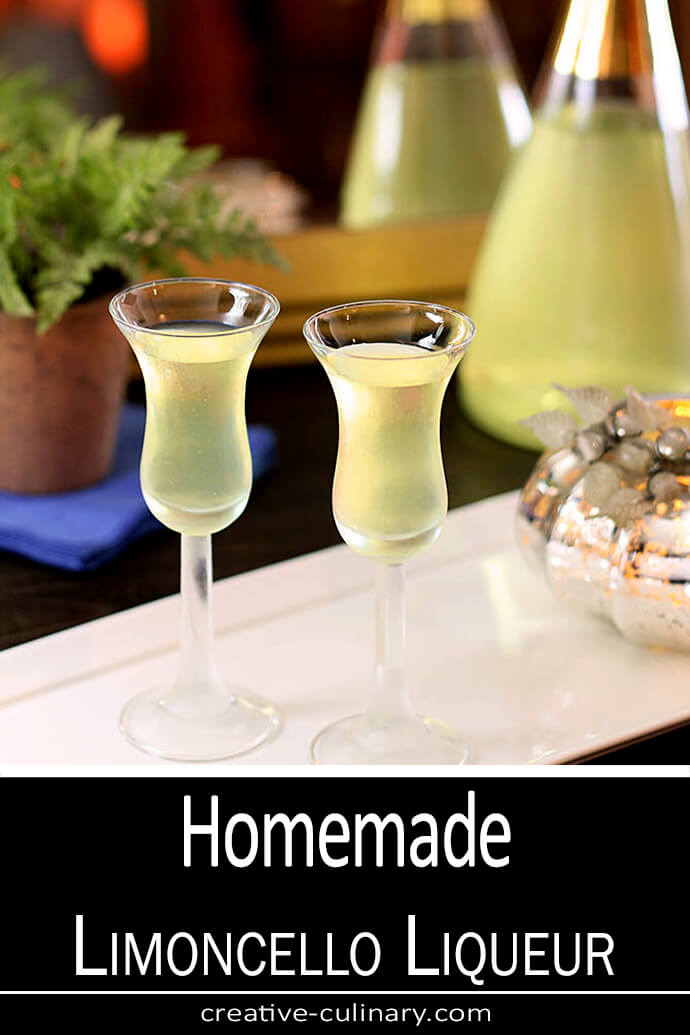 Homemade Limoncello Liqueur Creative Culinary