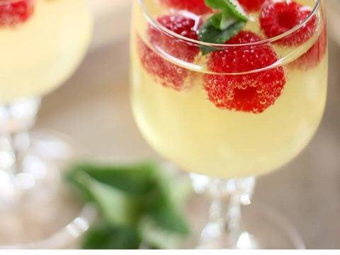 Raspberry, Limoncello and Prosecco Cooler