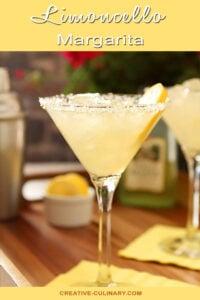 Limoncello Margarita Served in a Martini Glass