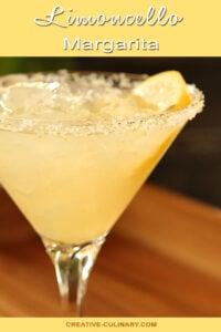 Limoncello Margarita Garnished with Lemon Wedge
