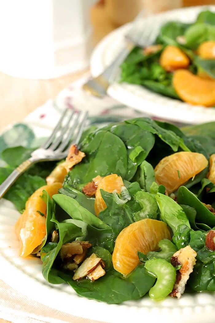 Mandarin Orange Salad with Candied Almonds