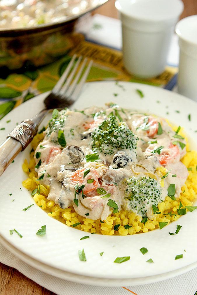 Mediterranean Vegetable Stroganoff