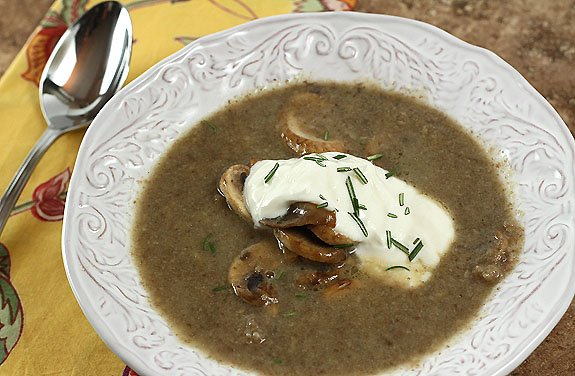 Paris Mushroom Soup from Dorie Greenspan