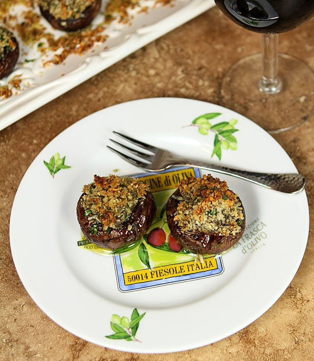 Stuffed Mushrooms with Parmesan and Garlic