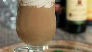Irish Coffee with Hazelnut Liqueur