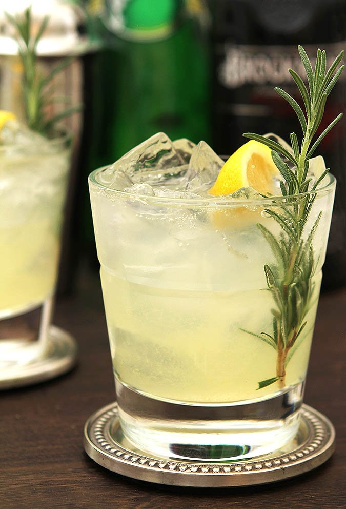 A Year of Friday Cocktails - Sparkling Rosemary and Gin Lemonade