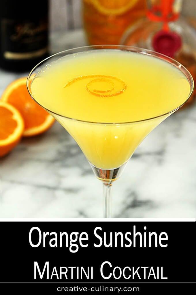 Orange Sunshine Martini