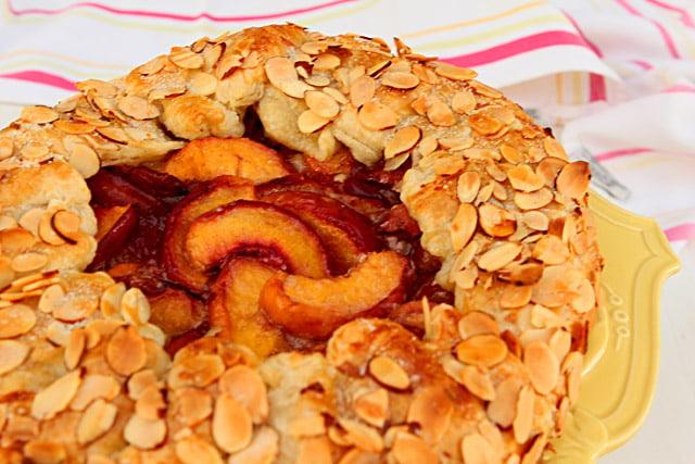 Peach Almond Gallette