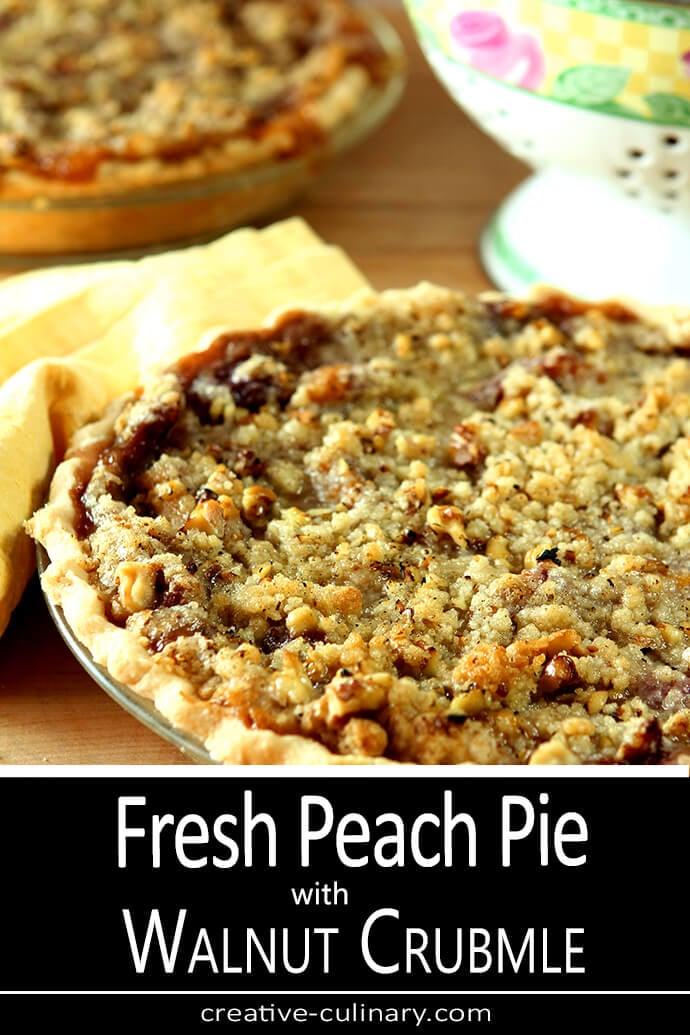 Fresh Peach Pie featuring Palisades Peaches