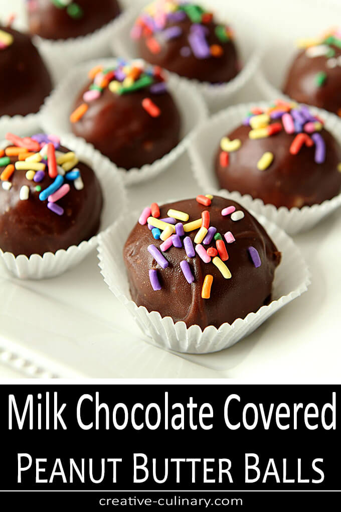 Milk Chocolate Covered Peanut Butter and Coconut Balls PIN