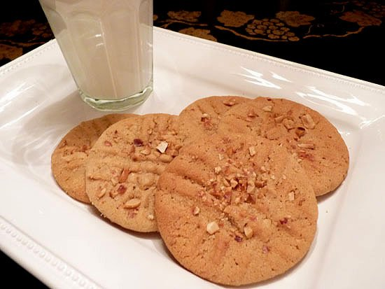 Ultimate Peanut Butter Cookie on a White Plate