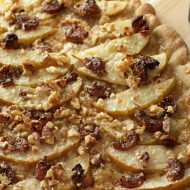 Pear Pizza with Walnuts and Glazed Figs