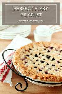 Perfect Flaky Pie Crust on Finished Lattice Crust Cherry Pie