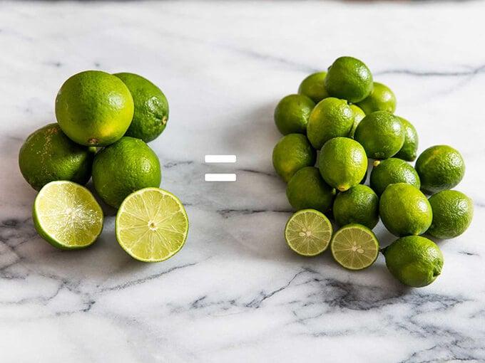 Persian Limes vs Key Limes