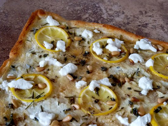 Lemon Ricotta Pizza with Herbs and Honey