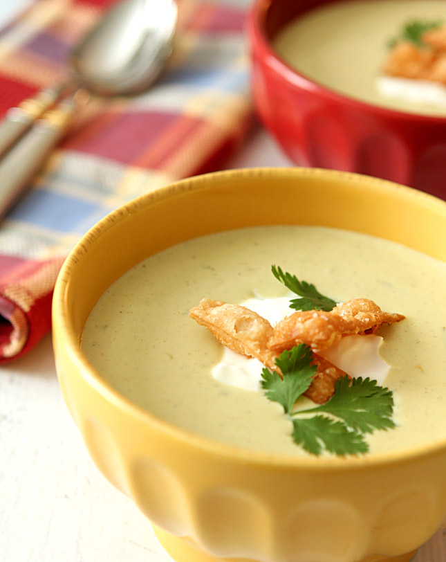 Roasted Chiles and Corn Soup