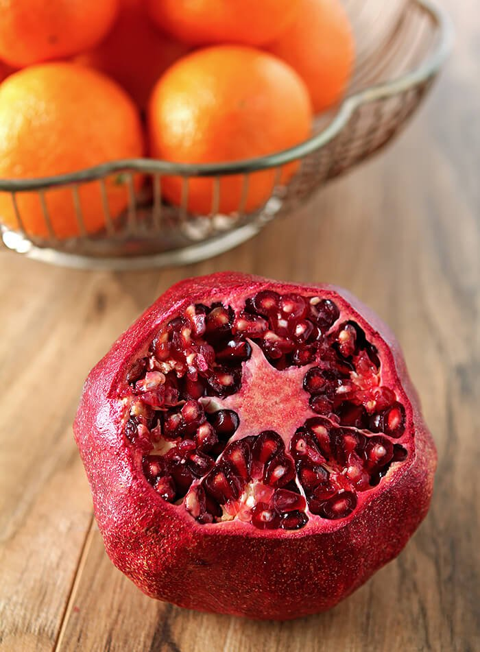 How to Seed A Pomegranate with Top Cut Off
