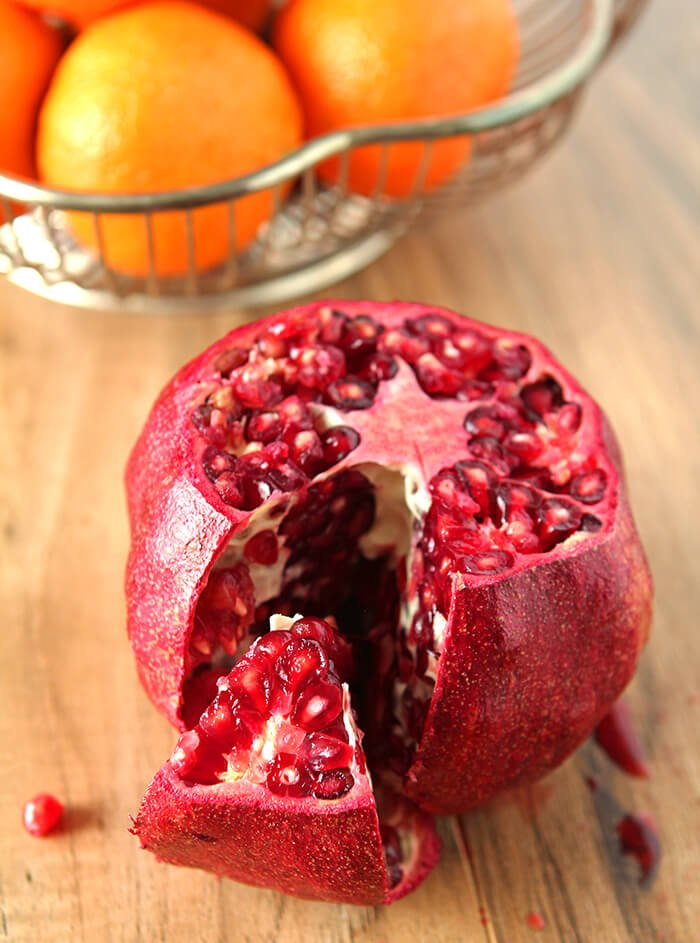 How to Seed A Pomegranate with One Section Removed at Membranes