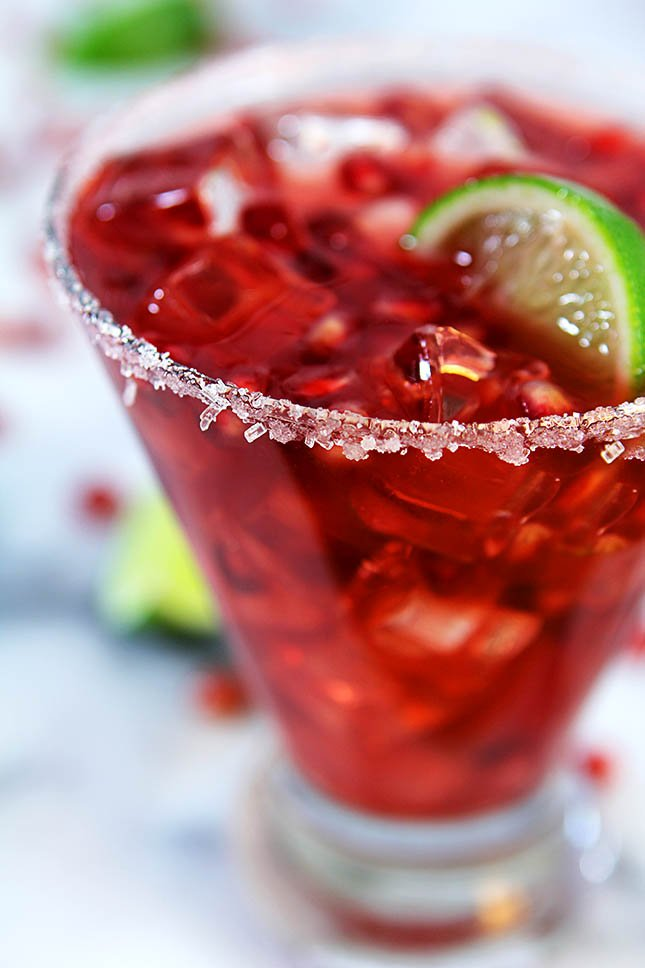 Pomegranate Margarita from Creative-Culinary.com