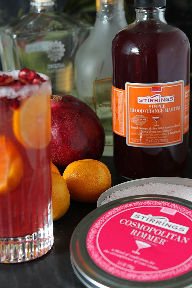Pomegranate and Blood Orange Tequila Spritzer