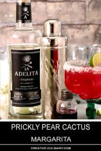 Prickly Pear Margarita with a Bottle of Adelita Tequila