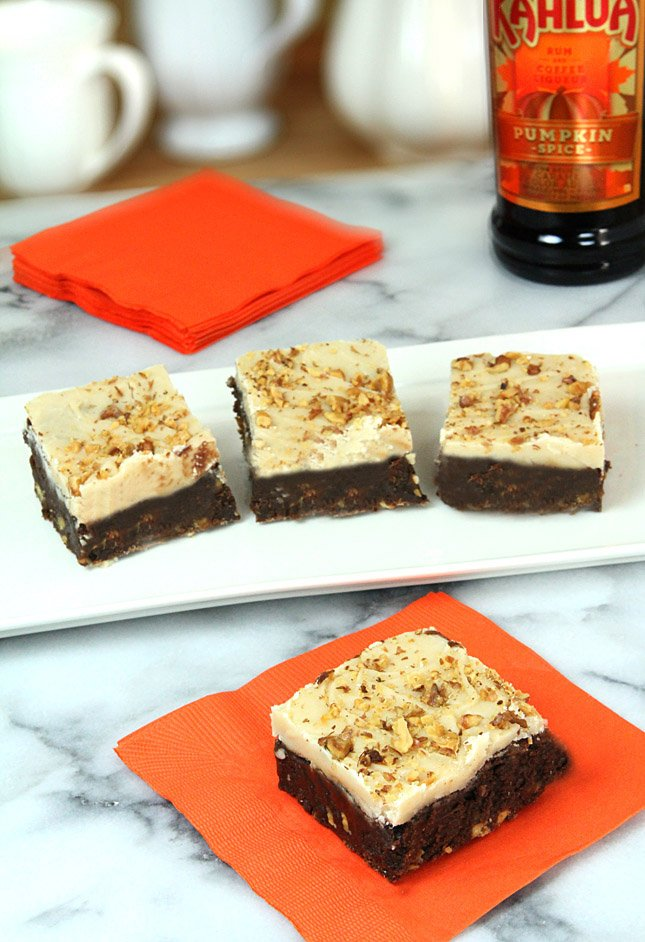 Kahlua Pumpkin Brownies with a Cream Cheese Frosting