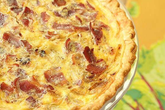 Quiche Lorraine with Caramelized Onions IS for Real Men!
