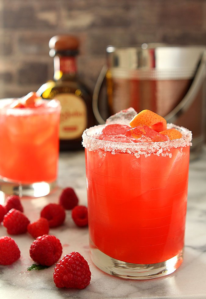Grapefruit and Raspberry Margarita