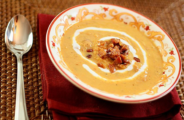 Red Lentil Soup with Ham