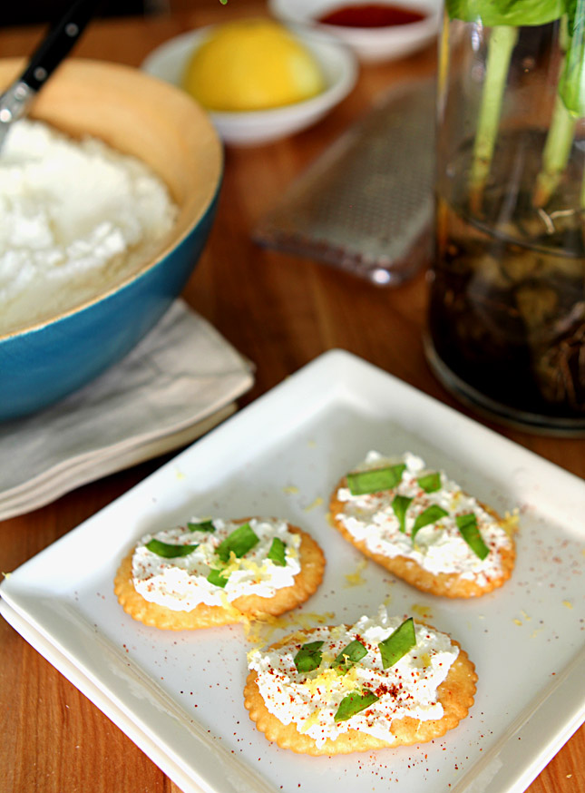Homemade Ricotta with Lemon | Creative-Culinary.com