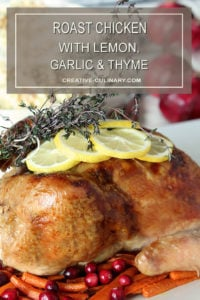 Whole Roast Chicken Leg with Lemon, Garlic, and Thyme