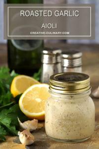 Jar of Roasted Garlic Aioli