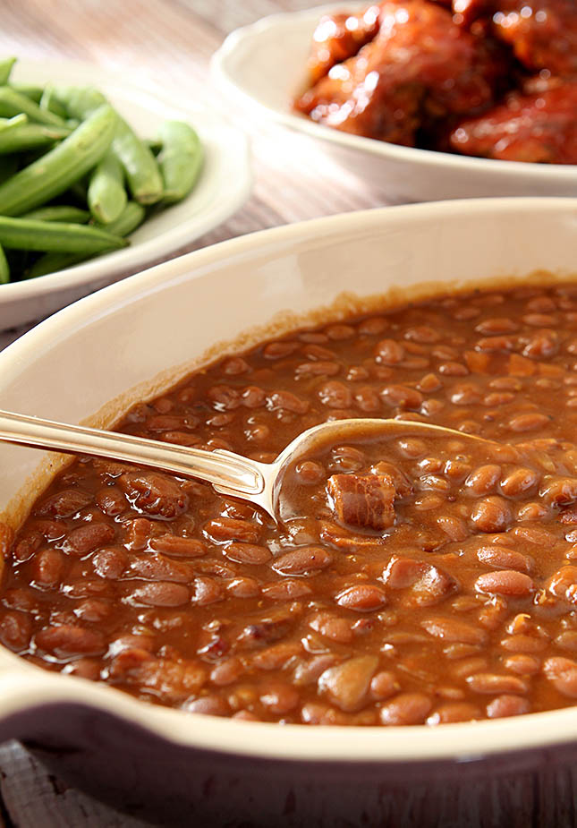 Root Beer Baked Beans from @CreativCulinary