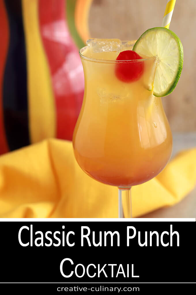 Classic Rum Punch Cocktail PIN