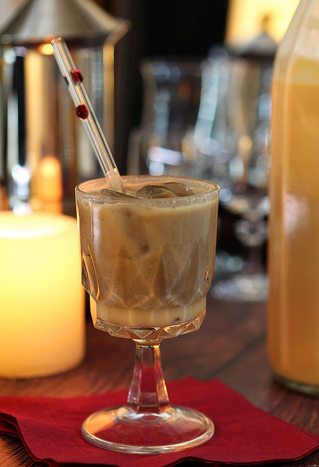Salted Caramel Cream Liqueur mixed with Cream and Vodka
