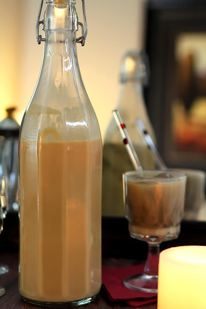 Bottle of Salted Caramel Cream Liqueur