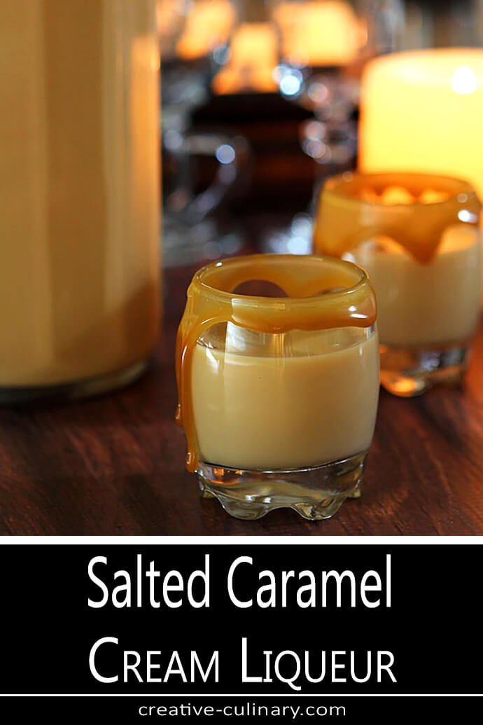 Salted Caramel Liqueur Served Straight Up in a Small Liqueur Glass