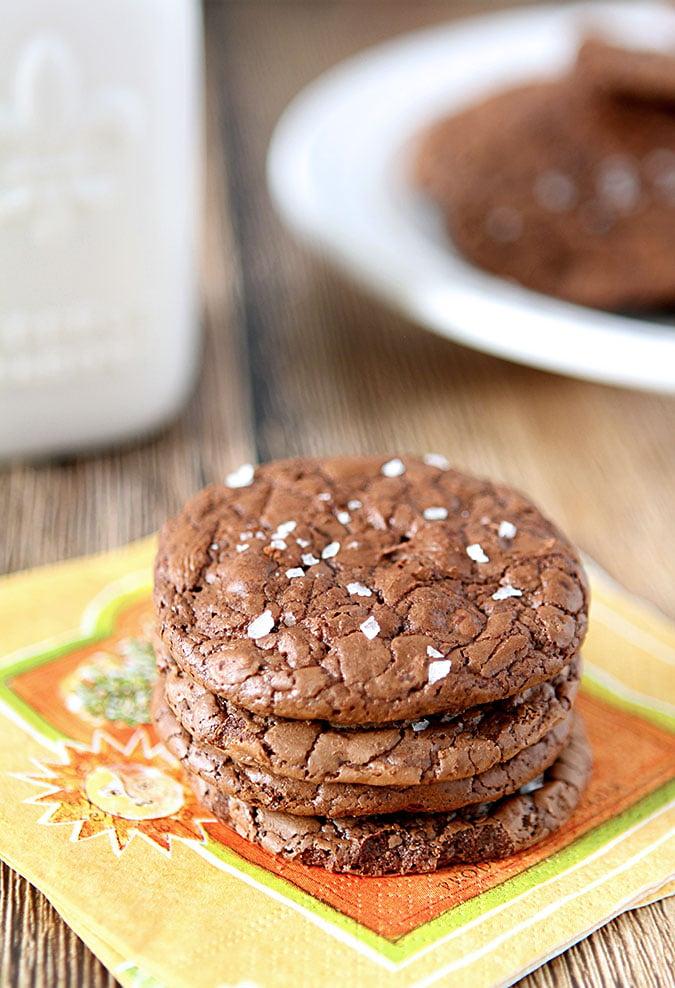 Salted Fudge Cookies