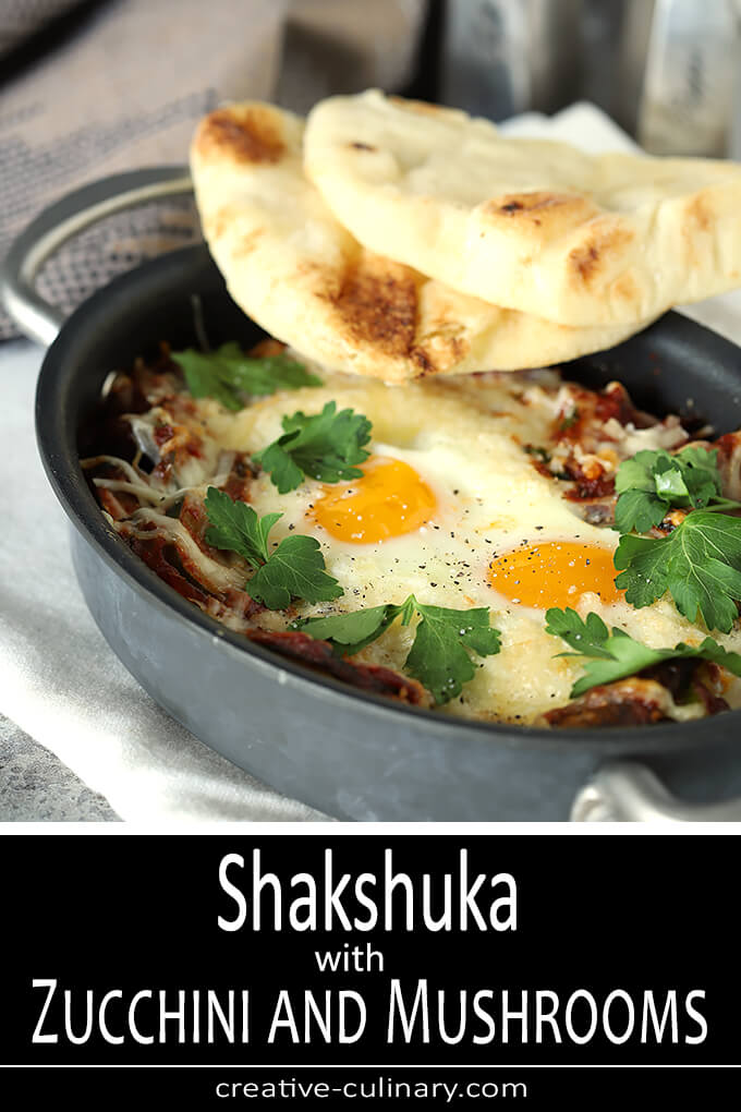 Shakshuka with Zucchini and Mushrooms PIN