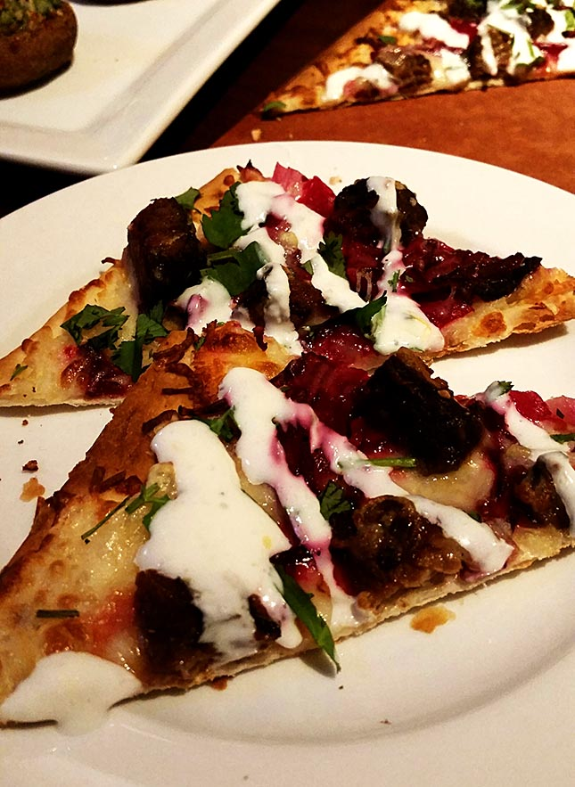 Seasons 52 Braised Short Rib and Cheddar Flatbread