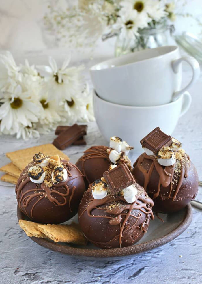 S'Mores Hot Chocolate Bombs