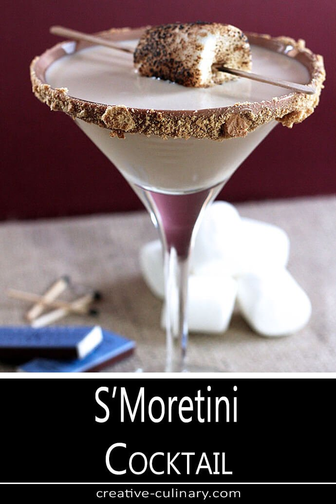 S'Moretini Cocktail Served with Toasted Marshmallow