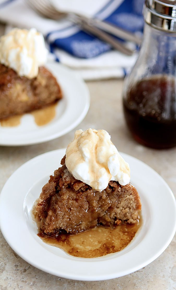Boozy Snickerdoodle Cake with Apples