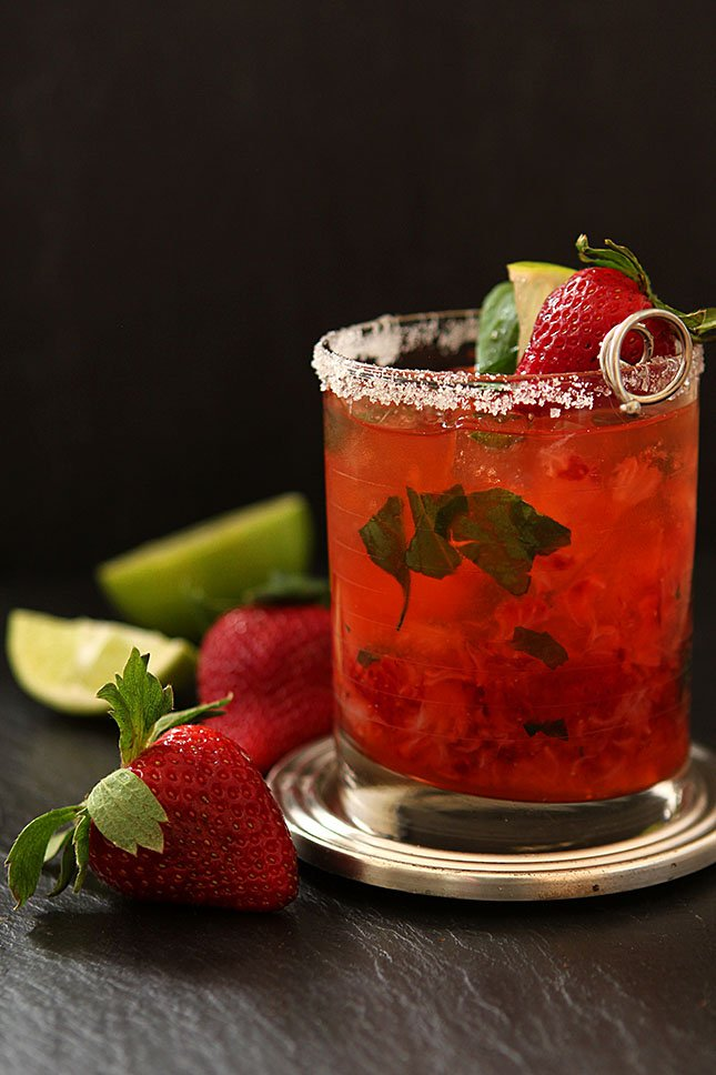 Strawberry Basil Margarita from Creative-Culinary.com