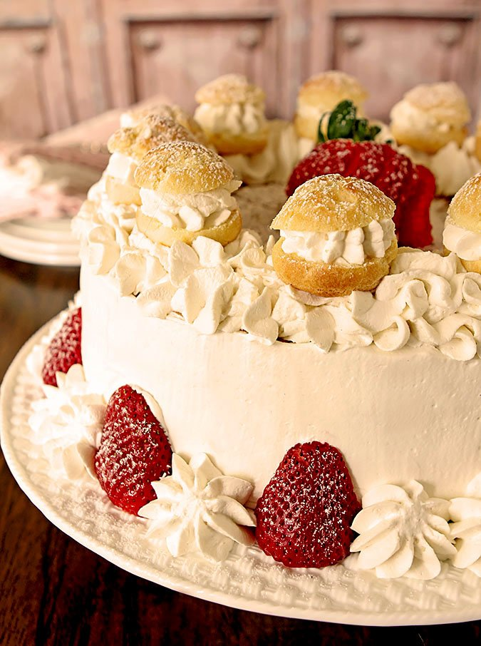 Strawberry Cream Puff Cake Creative Culinary