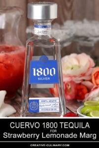 Bottle of 1800 Silver Tequila for Strawberry Lemonade Margaritas
