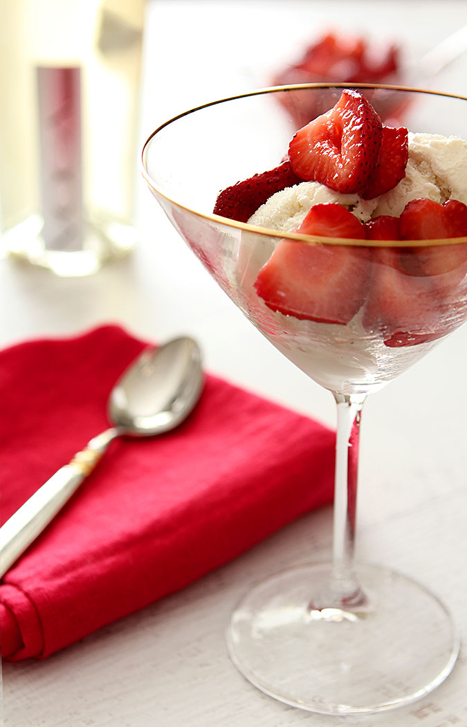 Strawberry Prosecco Float Cocktail combines vanilla ice cream, fresh berries, and sparkling wine.
