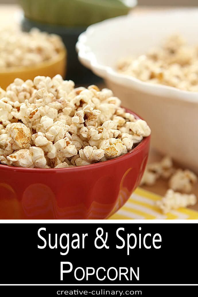 Sugar and Spice Popcorn on Table